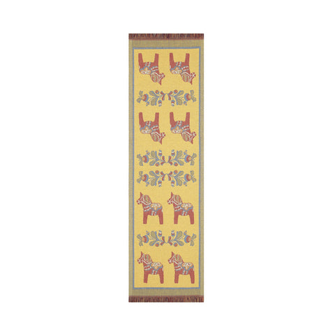 Ekelund Kurbits Swedish Dala Horse Table Runner