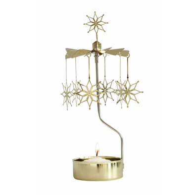 Etno Gold - Rotating Carousel Candle Holder