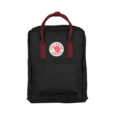 Black & Ox Red - Classic Fjallraven Kanken Backpack