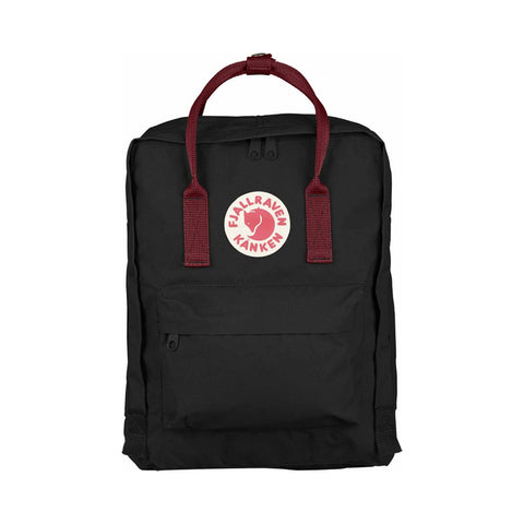 Fjallraven Kanken Classic Backpack – Black & Ox Red