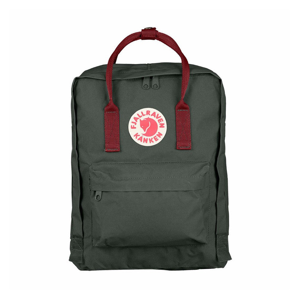 Fjallraven Kanken Classic Backpack – Forest Green & Ox Red
