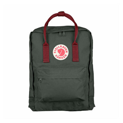 Forest Green & Ox Red - Classic Fjallraven Kanken Backpack