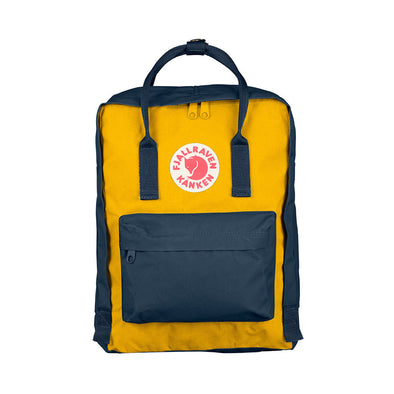 Navy & Warm Yellow - Classic Fjallraven Kanken Backpack