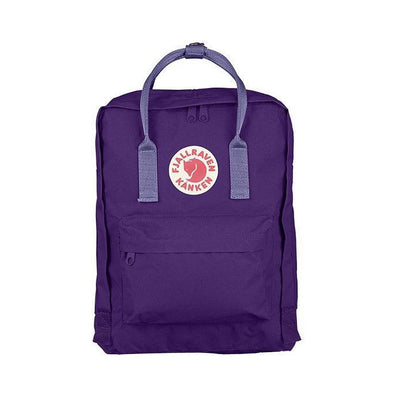 Purple with Violet Straps - Classic Fjallraven Kanken Backpack