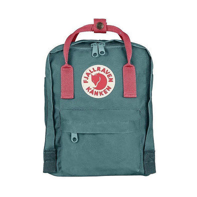 Frost Green with Peach Pink straps - Mini Fjallraven KankenBackpack