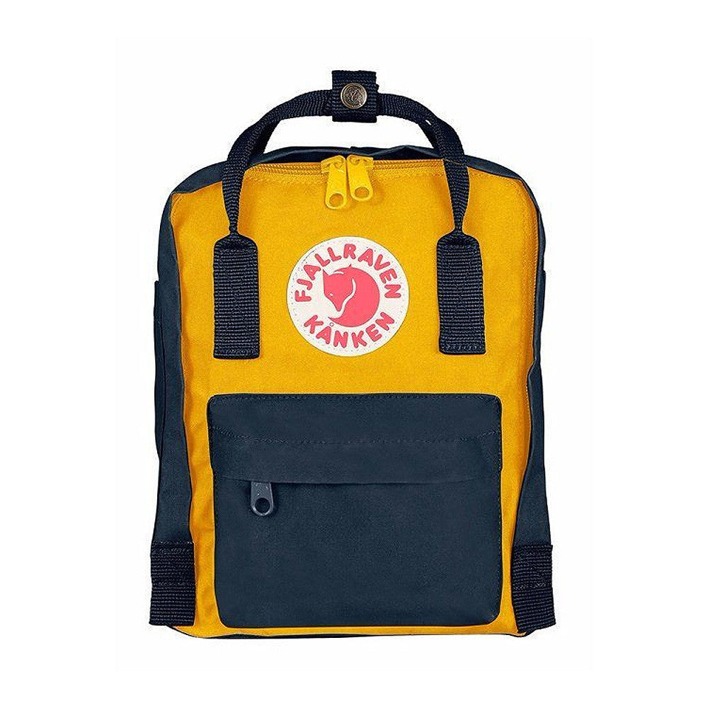 Fjallraven Kanken Mini Backpack – Navy and Warm Yellow