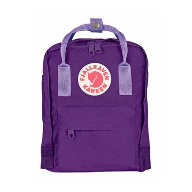 Purple with Violet straps - Mini Fjallraven Kanken Backpack