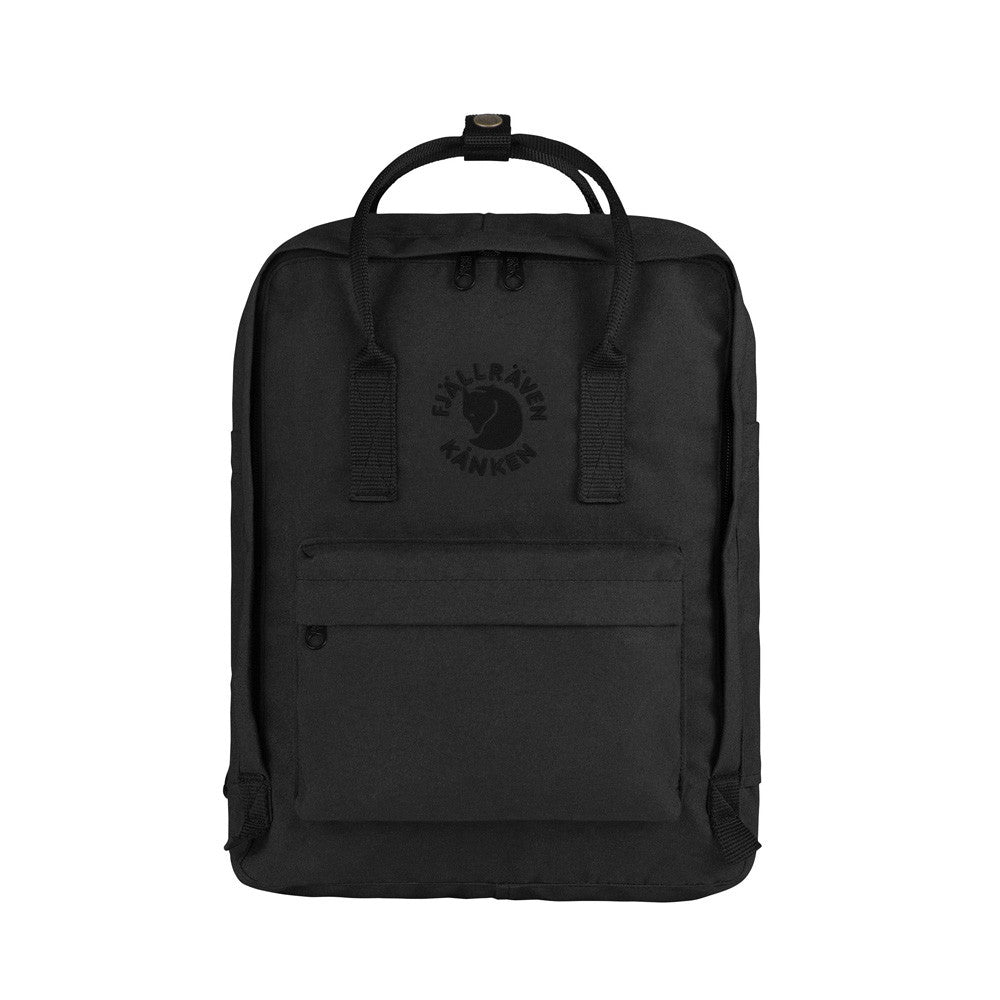 Black - RE-Kanken Classic Fjallraven Recycled Backpack