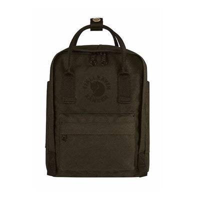 Dark Olive - RE-Kanken Mini Fjallraven Recycled Backpack