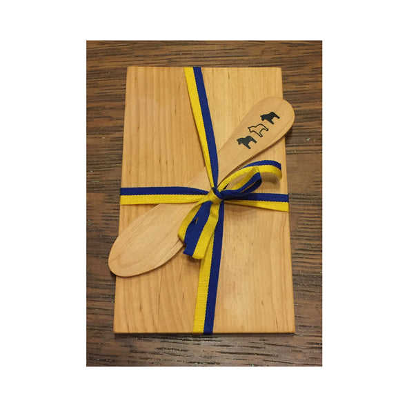 Dala Horse Wooden Sandwich Board and Butter Knife - Gift Set