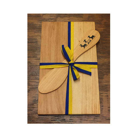 Gift Set - Wooden Sandwich Board and Butter Knife - Reindeer