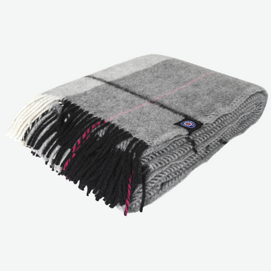 Grey/Black/Pink - Icelandic Wool Blanket