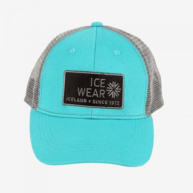 Trucker Ball Cap Unisex - Turquoise & Grey