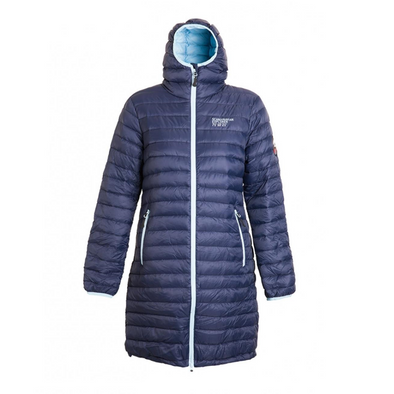 Ultra Light Down Coat - Womens - Navy