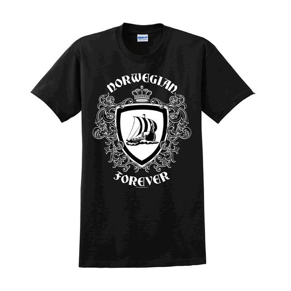 Black - Norwegian Forever Viking T-Shirt