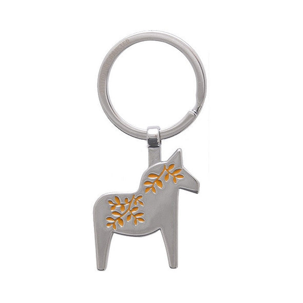 Dala Horse Metal Key Ring