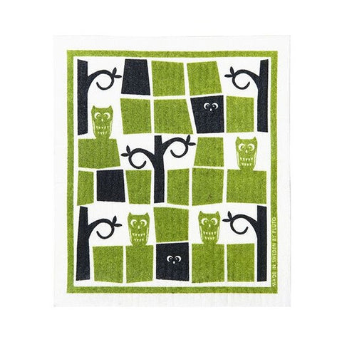 Pluto Swedish Dishcloth - Owl