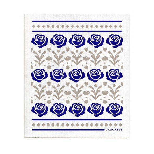 Rose - Blue - The Amazing Swedish Dish Cloth