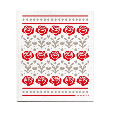 Rose - Red - The Amazing Swedish Dish Cloth