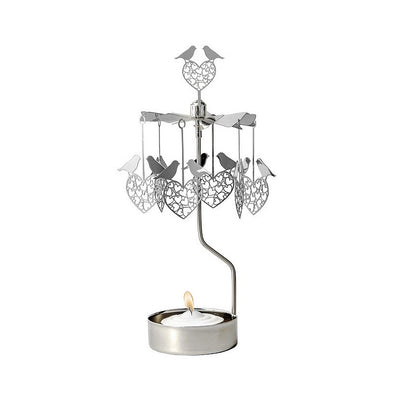 Birds and Hearts - Rotating Carousel Candle Holder