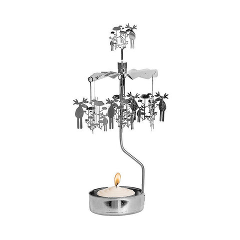 Rotating Carousel Candle Holder - Moose and Trees