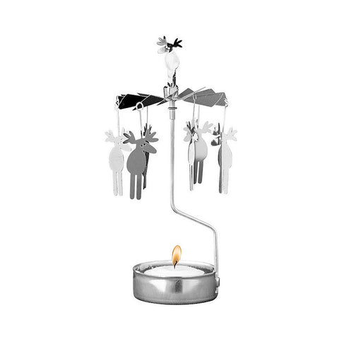 Rotating Carousel Candle Holder - Moose