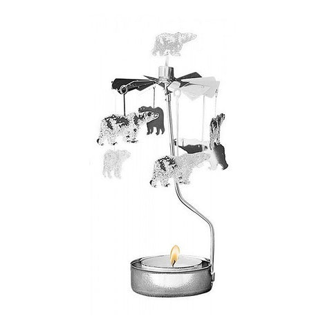 Rotating Carousel Candle Holder - Polar Bear
