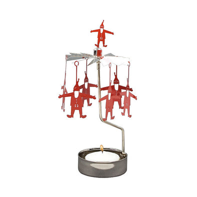 Red Santa - Rotating Carousel Candle Holder