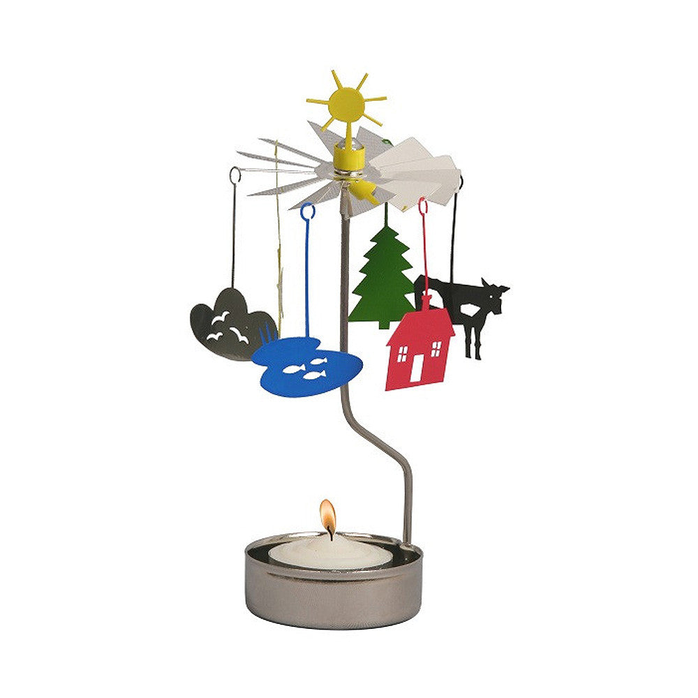 Rotating Carousel Candle Holder - Sun and Clouds