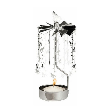 Birds on branches - Rotating Carousel Candle Holder