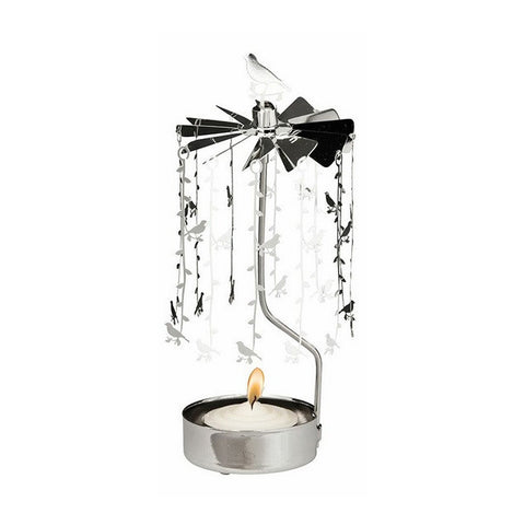 Rotating Carousel Candle Holder – Birds on branches