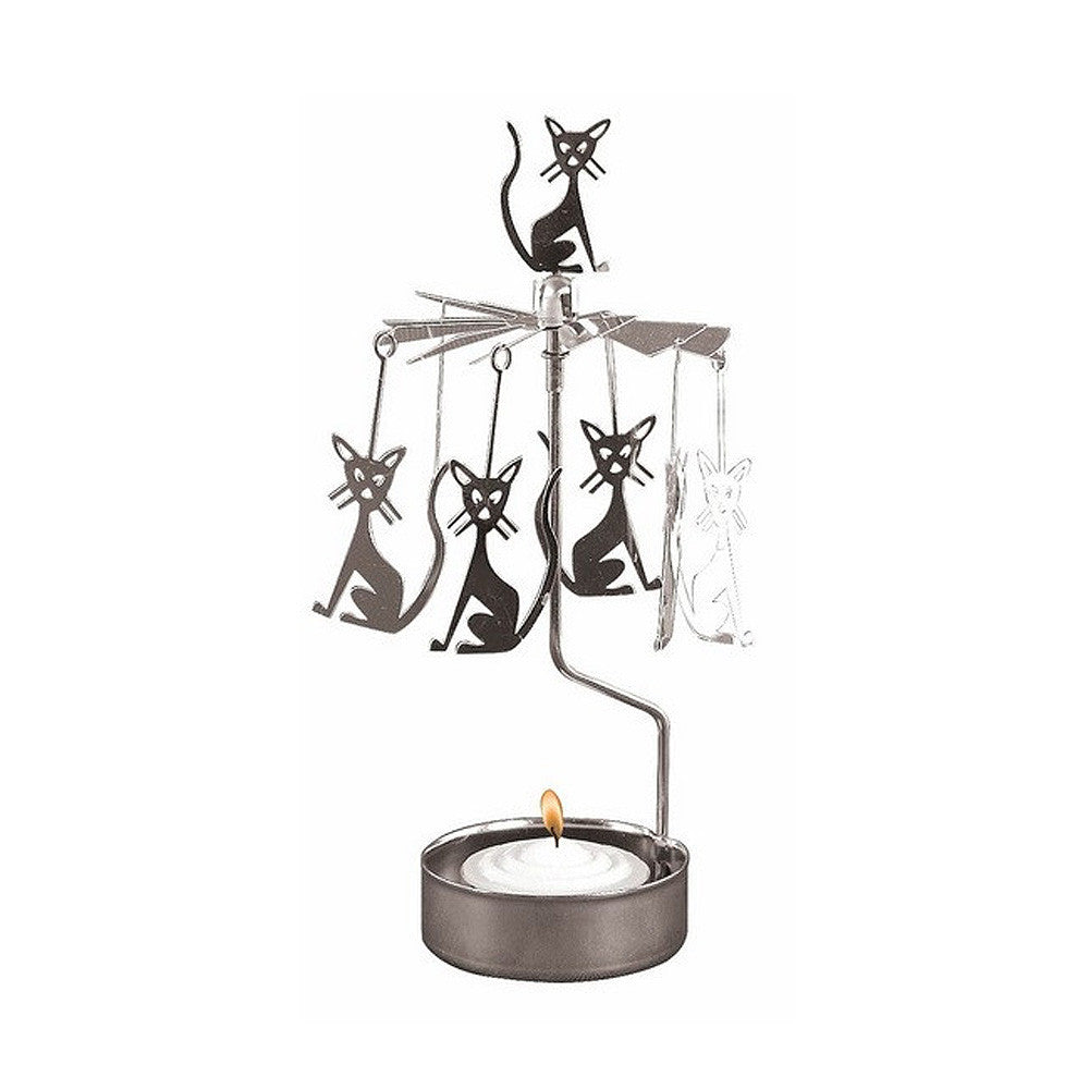 Rotating Carousel Candle Holder – Cats