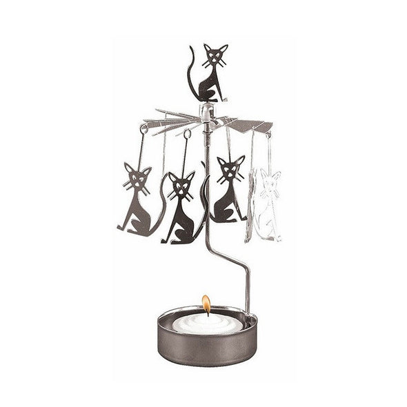 Cats - Rotating Carousel Candle Holder
