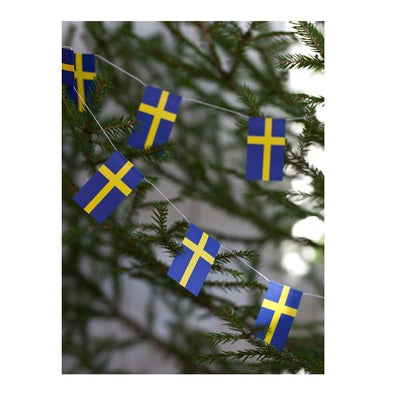 Swedish Flag Garland String Decoration - 13 feet
