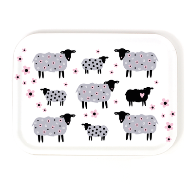 Sheep- Birch Wood Serving Tray