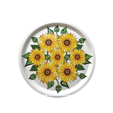 Sunflowers - Large Round Birch Wood Serving Tray