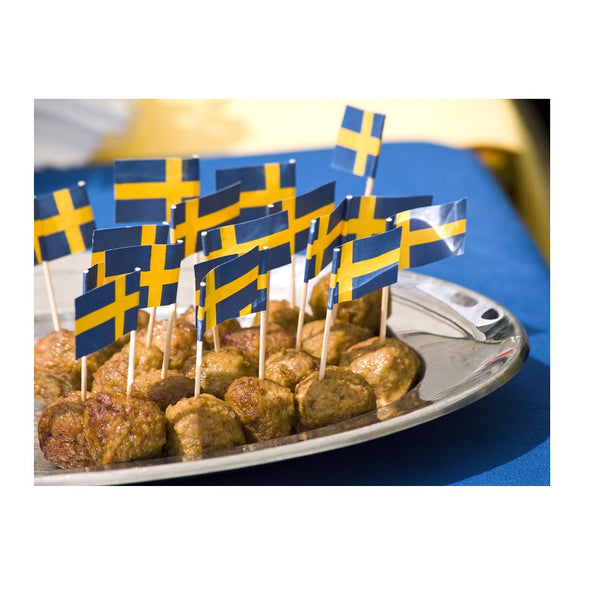Swedish Flag Tooth Pick Decor - 50 pack