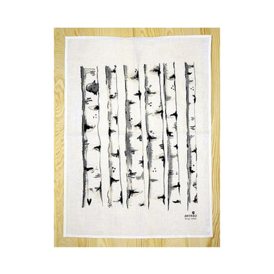 Birch Trees - Linen and Cotton Tea Towel