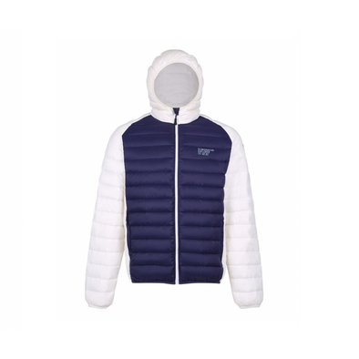 Ultra Light Down Jacket Unisex - White & Navy