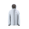 3 Layer Softshell Jacket Unisex - White and Dark Grey