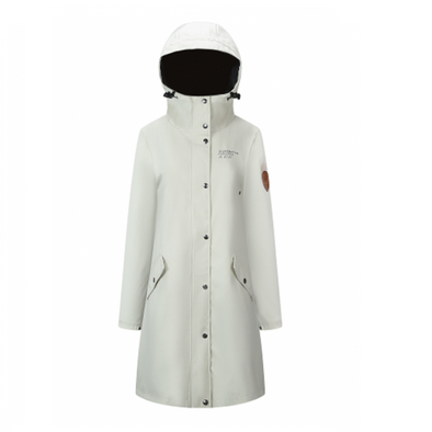 Rain Coat - Womens - White