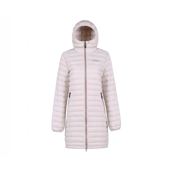 Ultra Light Down Coat - Womens - Beige