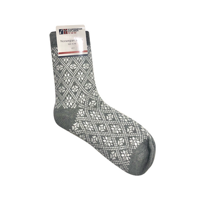 Gray - Norwegian Socks Large