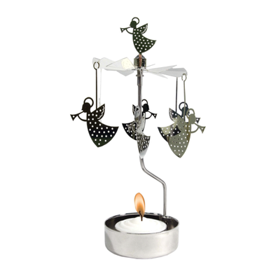 Angels - Rotating Carousel Candle Holder