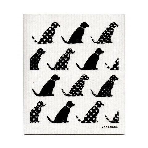 The Amazing Swedish Dish Cloth - Black Dogs