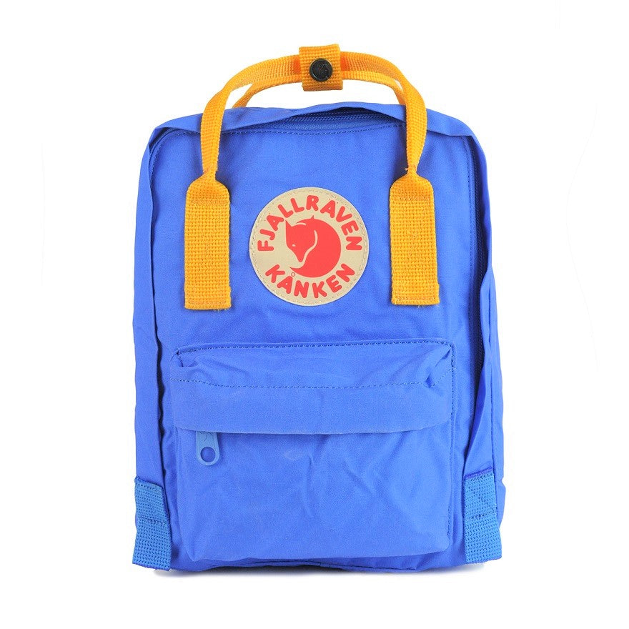 Fjallraven Kanken Mini Backpack – UN Blue with Warm Yellow straps