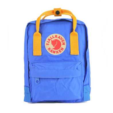 UN Blue with Warm Yellow straps - Mini Fjallraven Kanken Backpack