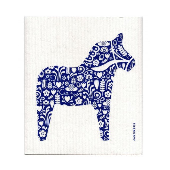 Dala Horse - Blue - The Amazing Swedish Dish Cloth