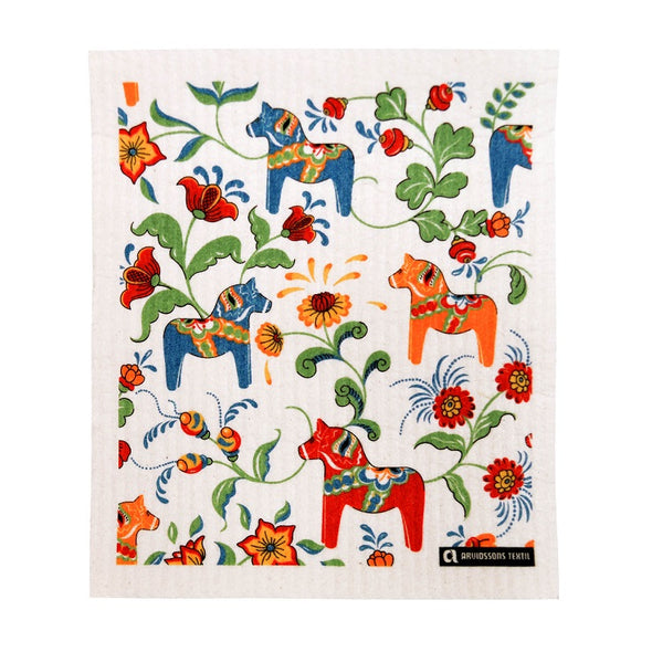 Dala Horse - Colorful - The Amazing Swedish Dish Cloth