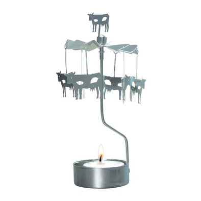 Cows - Rotating Carousel Candle Holder